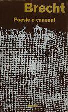 LIBRO Poesie e canzoni Brecht Bertold Einaudi 1959