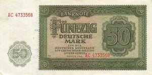 Germany (East) 50 Mark 1948 XF+