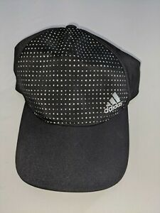 Adidas Black Strapback Front White Dotted Cap BNWT