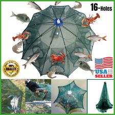 Usa Fishing Bait Trap Crab Net Crawdad Shrimp Cast Dip Cage Fish Minow Foldable