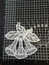 Large White Flower Guipure Lace,Applique,Trimmings,White Bells Motif - 9 x 9 cm