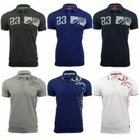 Mens Polo Shirt by Crosshatch 'Pacific Polo' Short Sleeved