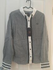 Amy winehouse fred perry check gingham shirt size 14