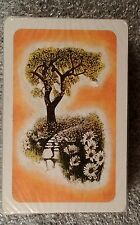 Tree & Flowers Single Deck Trump Playing Cards  New Cello sealed