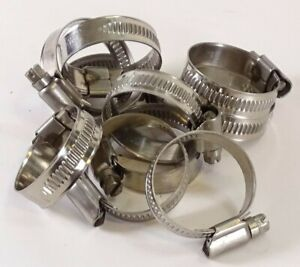 Stainless Steel / Zinc Plated Hose Clips - Pipe Clamps Jubilee Rubber Silicone
