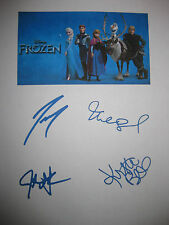 Disney Frozen Signed Movie Script X4 Kristen Bell Idina Menzel Gad Groff reprint