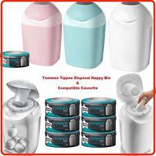 Tommee Tippee Sangenic Nappy Sacks Disposal System BIn Tub & Refill Cassette Kit