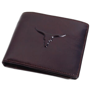 Men's Genuine Leather Wallet Credit Card Holders Zipper Coin Pocket Purse
