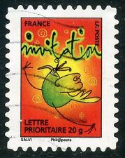 TIMBRE FRANCE AUTOADHESIF OBLITERE N° 345 / TIMBRE POUR INVITATION