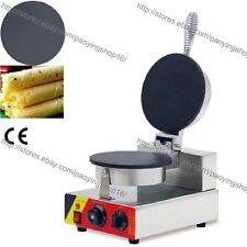 Commercial Nonstick Electric 21cm Egg Biscuit Roll Maker Machine Baker Mold Iron