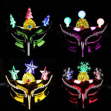 Luminous Flashing Face Mask Masquerade Party Dance Ball Prom Cosplay Masks Decor
