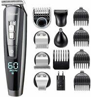 Tondeuse Barbe Tondeuse Cheveux Hommes Rasoir Corps Impermeable 5 en 1 IPX7