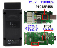 OP-Com Firmware V1.7 2014V Can OBD2 adapter for Opel Single Layer PCB Software