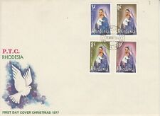 1977 Rhodesia Christmas First Day Cover