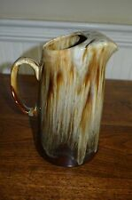 """Brown drip pitcher with ice lip. FULL SIZE  9.5"""" heigh x 6"""" botton Holds 1.5 qts"""