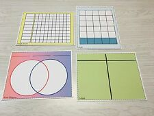 Write-On/Wipe-Off Sorting, Graphing & Classification Mats (20 pcs Classroom Set)