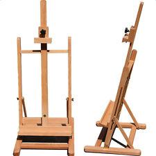 US Art Supply HJ-10 Easel Beech Tabletop Adjustable H-Frame Studio Artist Wood
