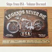 Legends Never Die Harley Sign Legends Never Die Harley Davidson Metal Sign Art