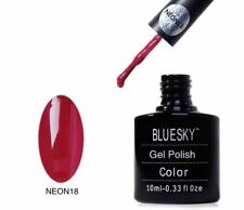 Bluesky UV LED Soak Off Nail Polish Neon 18 Cranberry 10ml
