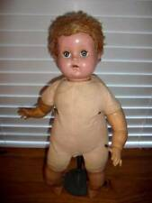 "R & B ~ Vintage 1950s Vinyl Hp Cloth 20"" Sitting Doll"