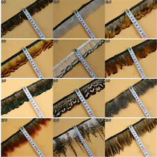 Wholesale 1-10Yards Natural Pheasant Feathers Trims Fringe Ribbon Trim Diy