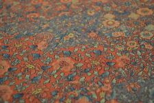 Japanese Silk Fabric Orange with Floral Design 1363