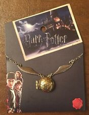 Harry Potter Quidditch Golden Snitch Locket Necklace New With Tags!