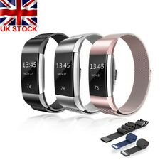For Fitbit Charge2 Watch Strap Wrist Band Milanese Stainless Steel Classic UK