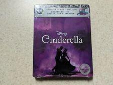 Cinderella SteelBook Blu-Ray + DVD + Digital Code FACTORY SEALED