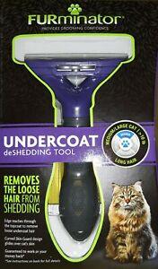 FURminator UNDERCOAT deSHEDDING TOOL MEDIUM/ LARGE CAT >10 lbs. BRAND NEW~BID$10