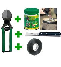Kit set per innesto forbice + nastro + coltello + mastice manutenzione piante