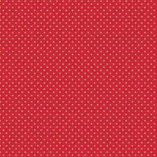 Baumwollstoff Pünktchen Rot METERWARE Webware Popeline Stoff Dots