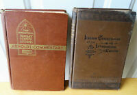 Sunday School Lessons Arnold's Commentary 1948 & the Lesson Commentary for 1889