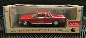 Sunstar, Classic Models, 1963 CHEVROLET CORVAIR, Red, 1:18 Scale
