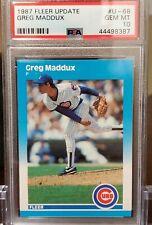 1987 Fleer Update Greg Maddux #U-68 psa 10 rc