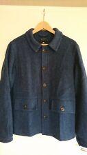Nigel Cabourn Jacke Arbeiterjacke Jacket Sakko Harris Tweed Blau Größe 48