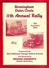 Programme ~ Birmingham Outer Circle Rally : Buses Cars Commercials etc: 1988