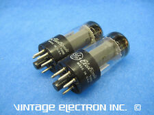 (1) Matched Pair 7408 (6V6Gt) Vacuum Tubes - Ge - Usa 1966 - (Free Shipping!)