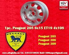 1 pc. cerchio Peugeot 205 306 309 Design 6x15 ET19 Wheel Felge Llanta Jante