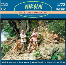 Nikolai 1/72 Woodland Indians Set 2- War Council #IND02