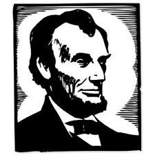 """President Lincoln car bumper sticker 5"""" x 4"""""""
