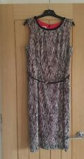 ANNE KLEIN FITTED STRETCH DRESS WITH BELT SIZE UK 8 10 US 4 NEW