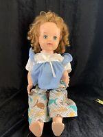 Ideal Doll blue sleep eyes, Brown curly hair, Hard body(1)