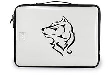 "11"" SWEET TRIBAL WOLF DOG HUSKY VINYL DECAL STICKER #3"