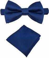Fliege + Einstecktuch Schleife Querbinder Binder de Luxe 609 blau Krawatten