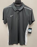 NIKE Women's DRI-FIT Polo Shirt Grey White - Size Medium - NEW - MSRP $50