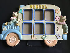 School Days Yellow School Bus Picture Frame Euc