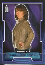 Doctor Who 2015 Purple Parallel [99] Base Card #44 Sarah Jane Smith