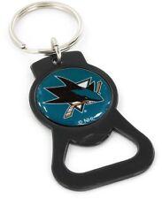 SAN JOSE SHARKS - BOTTLE OPENER KEYCHAIN - BRAND NEW - NHL-BK-702-21-BK