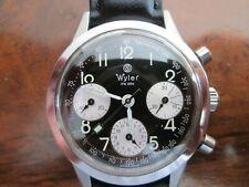 Wyler (Vetta) Geneve Swiss Made Valjoux 7753 Reverse Panda Chronograph
